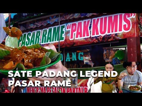 Sate Padang Pak Kumis, Sate Padang Legend di Pasar Rame Medan