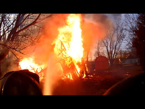 Fully Involved Structure Fire Helmet Camera