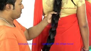Very Long Hair Thick Cobra Braiding by Male Hair Dresser
