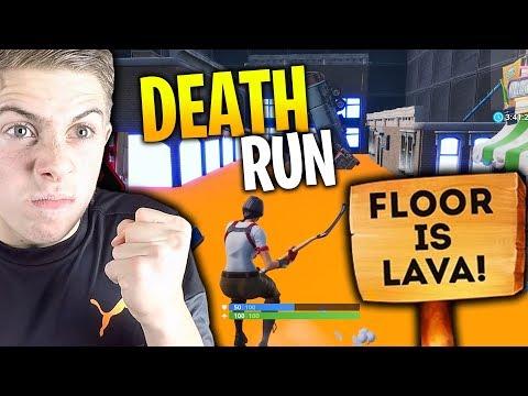 NOUVEAU DEATHRUN THE FLOOR IS LAVA SUR FORTNITE CRÉATIF !!
