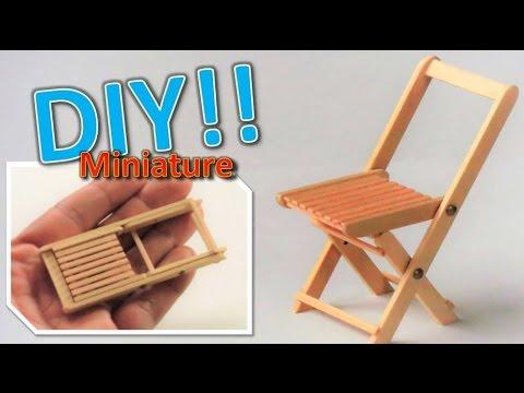 DIYMiniature folding chairactually works