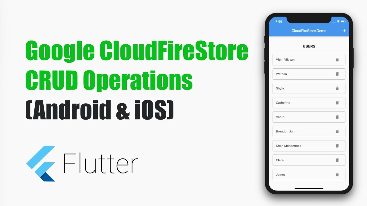 Flutter Tutorials – CloudFireStore CRUD Operations in