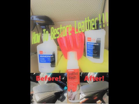 How To Clean And Restore Leather Seats For Under $10 Using Simoniz!