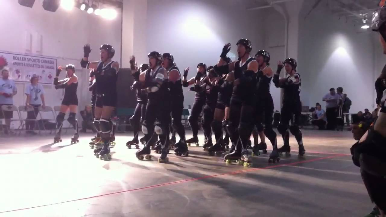 Roller skating new zealand - Team New Zealand Roller Derby Haka
