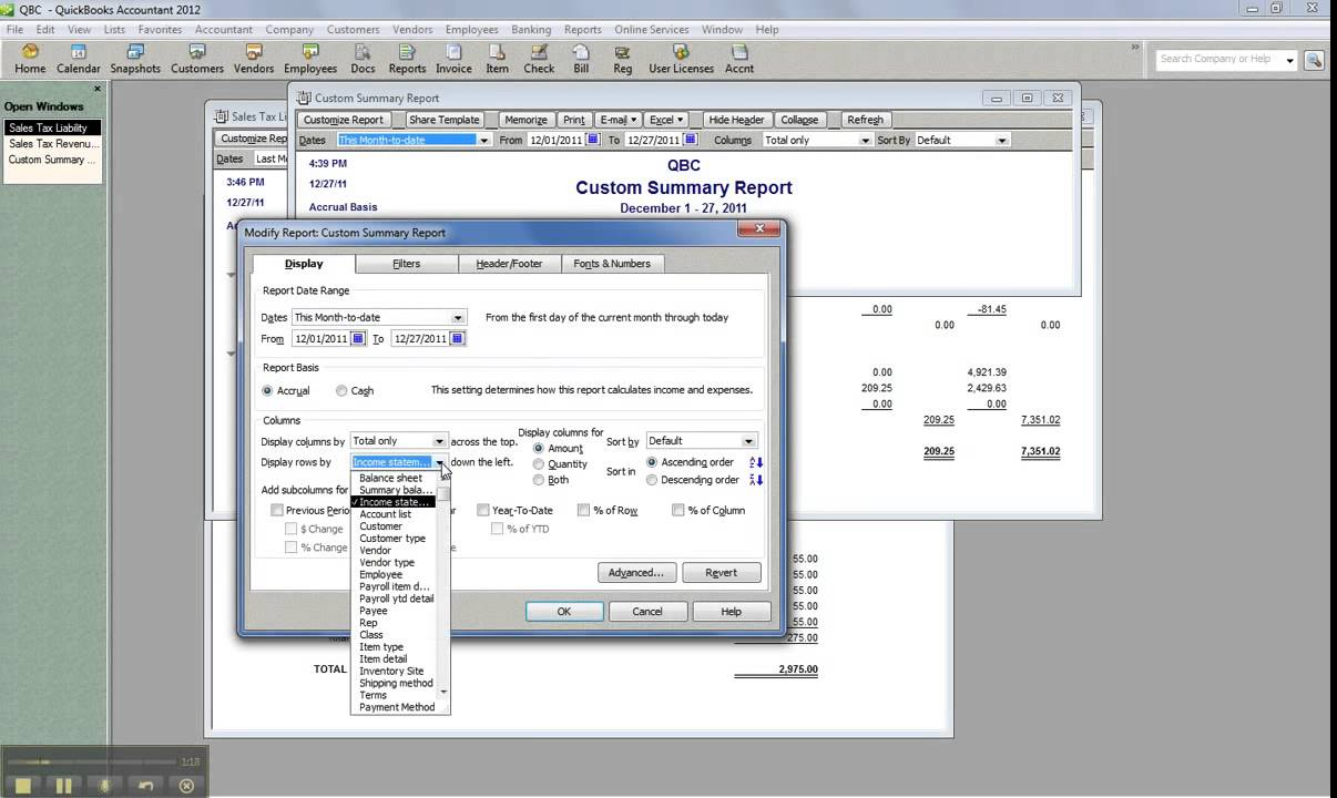 How to write custom reports in quickbooks