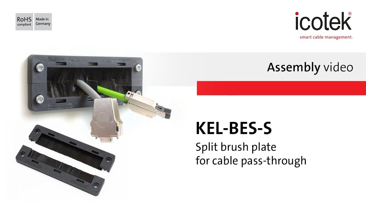 Cable pass-through with brush plates / brush strips | icotek UK