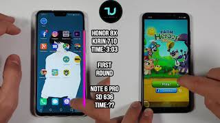 Honor 8X vs Xiaomi Redmi Note 6 Pro Speed test/Comparison! Kirin 710 vs Snapdragon 636