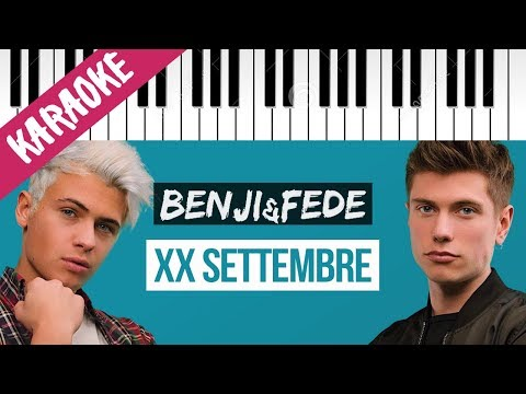 Benji & Fede   XX Settembre // Piano Karaoke con Testo