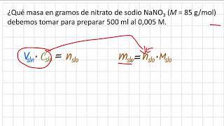 Como calcular la masa en gramos a partir de la molaridad y el volumen en ml