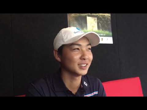 Min Woo Lee after round two of the 2017 Asia-Pacific Amateur Championship in New Zealand