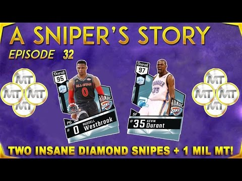 TWO INSANE DIAMOND SNIPES AND SNIPING TIPS + 1 MILLION MT! NBA 2K17 A Sniper's Story Ep. 32