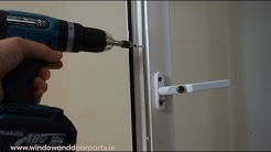 How to replace a window espag lock in a uPVC window