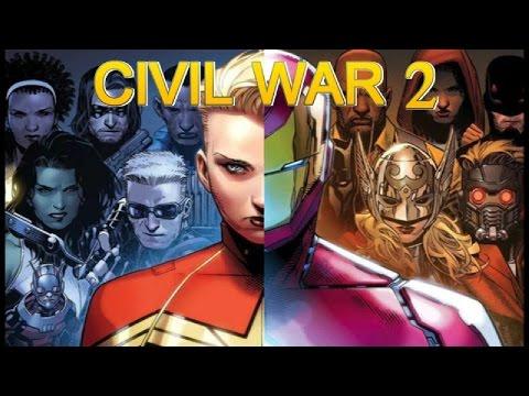 CIVIL WAR 2 - HISTORIA COMPLETA - avengers - inhumanos - x men - guardianes de la galaxia