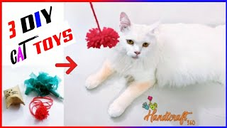 3 Cute Toys for Cat | Easy To Make DIY Cat Toys Your Pet Will Love | 3 Super Simple DIY Cat Toys
