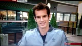 Andy Murray Wimbledon champion interview BBC Breakfast 2013