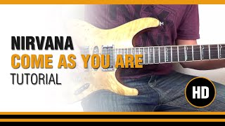 como tocar come as you are de nirvana en guitarra electrica clase tutorial