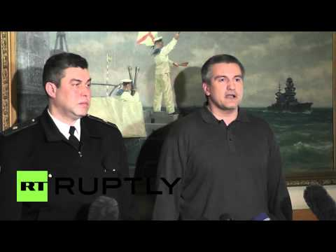 Ukraine: Commander of the Naval Forces of Ukraine swears allegiance to Crimean people