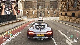 Bugatti Chiron - Forza Horizon 4 | Logitech g29 gameplay