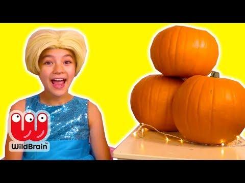 PUMPKIN SPICE CHOCOLATE FOUNTAIN - Magic Pumpkins! - Princesses In Real Life   WildBrain Kiddyzuzaa