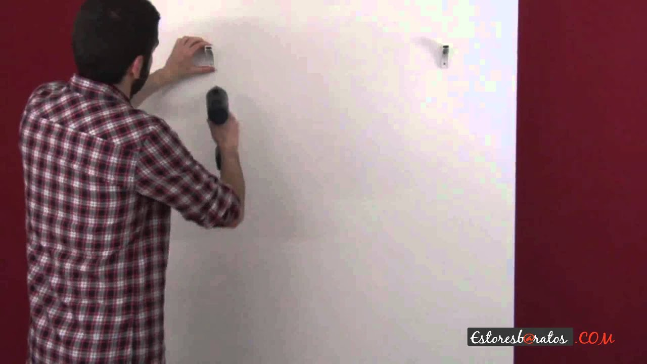 Como instalar una cortina de lamas verticales a pared youtube - Estoresbaratos com ...