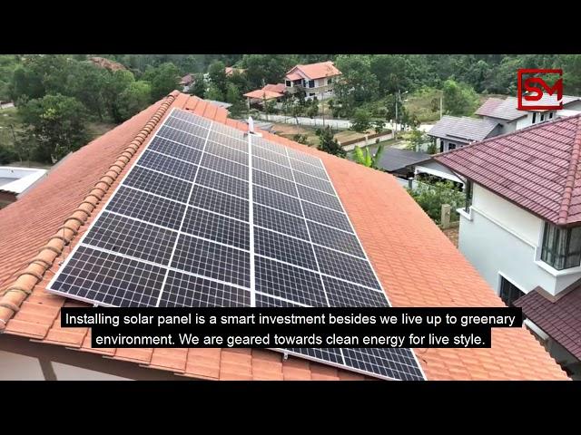 Mantan KSU labur wang persaraan pasang panel solar di rumah