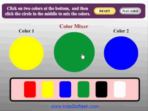 preschool game for kids color mixer youtube - Colour Games For Preschool
