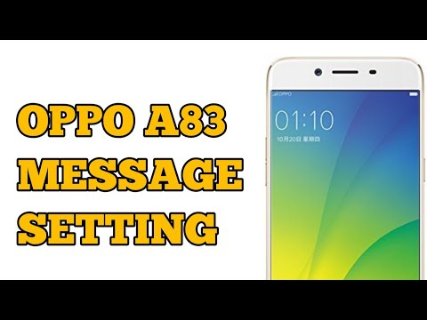 OPPO A83 Message Setting