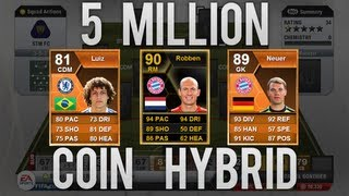 MOTM David Luiz! - FULL INFORM 5 MILLION COIN HYBRID SQUAD BUILDER - Fifa 13 Ultimate Team