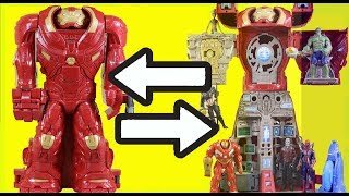 Marvel Avengers Infinity War Hulkbuster HQ Playset With Superhero Toy Team
