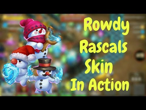 Rowdy Rascals Skin In Action L Castle Clash