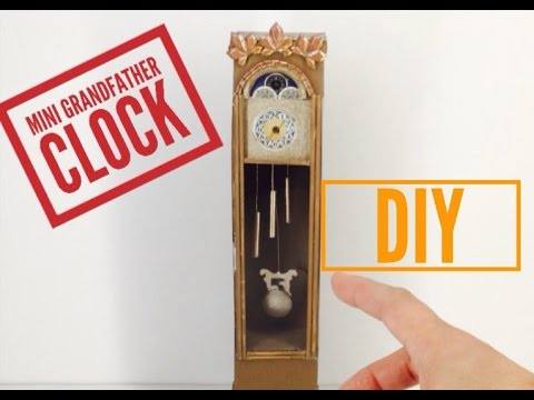 DIY-How to make: Dollhouse Grandfather Clock    Miniature Dollhouse Crafts