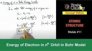 11. Class 12 Physics | Atomic Structure | Energy of Electron in Bohr Model | by Ashish Arora