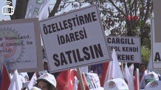 Ankara'da Şeker-İş'in çağrısıyla özelleştirme karşıtı eylem: Şeker fabrikaları satılamaz