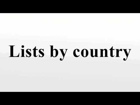 Lists by country