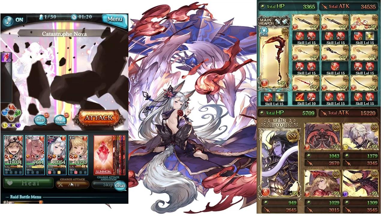 Granblue Fantasy - Summer Io, Societte, Anila vs Grimnir (Solo)