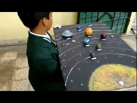 Solar System School Science Project For Class 3 Youtube