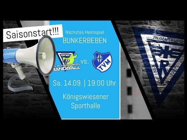 Saisonstart!!! ESV 1927 Regensburg vs. TV Möglingen - 14.09.2019 | 19:00 Uhr