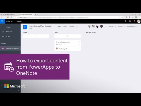 How to export content from PowerApps to OneNote using