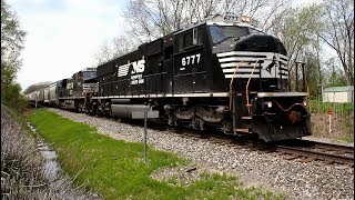 NS Ex Conrail SD60M with amazing horn in Conneaut !