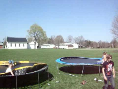 EPIC Trampoline stunts: DOUBLE BACKFLIP OFF OF TRAMPOLINE & MORE