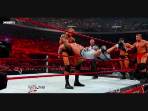 WWE RAW 07 13 09 John Cena Triple H and Seth Green vs The Legacy