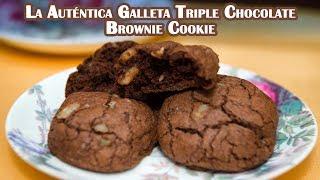 Galleta Brownie Cookie el Autentico Triple Chocolate