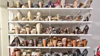 How To Organize A Woman's Master Closet Shoe Storage | Organizedliving.com
