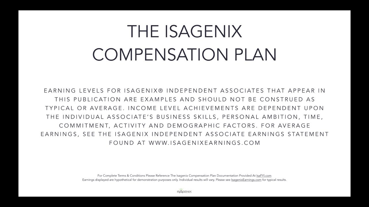 Isagenix Comp Plan UK - GBP