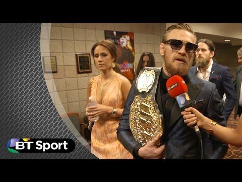 Conor McGregor UFC189 post-fight exclusive | BT Sport