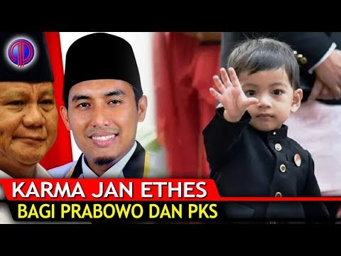 K4rma Cucu Jokowi Jan Ethes bagi Prabowo dan PKS