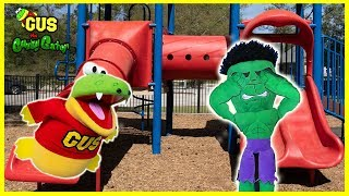 Hulk Pretend Play Hide and Seek at the Playground!!!