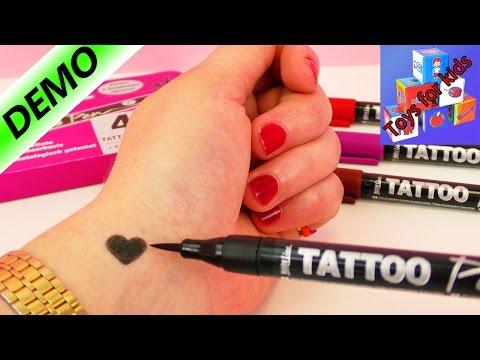 Testing Four Tattoo Pens - Temporary Tattoo Demo