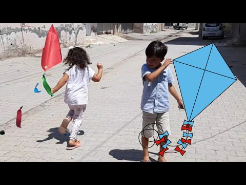 Paper kite for kids - home made funny toys