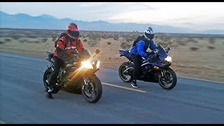 Video GSXR 600 vs R6  - Onboard, exhaust sounds, top speed  & more... download MP3, 3GP, MP4, WEBM, AVI, FLV Desember 2017